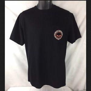Harley-Davidson Tee Shirt, Mens Large W/ Pocket